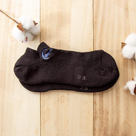 半毛巾船型襪(竹棉)黑