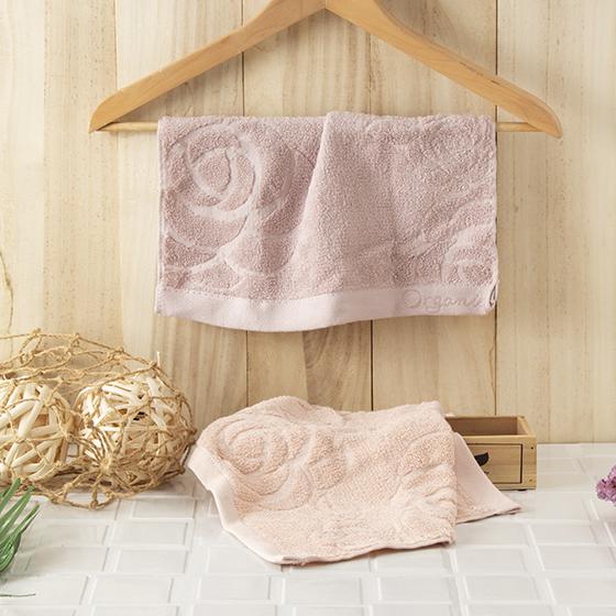 有機棉提花小方巾