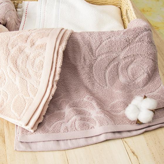 有機棉提花洗臉巾