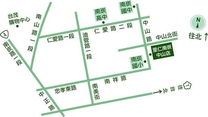 里仁南崁中山店地圖 Leezen Map